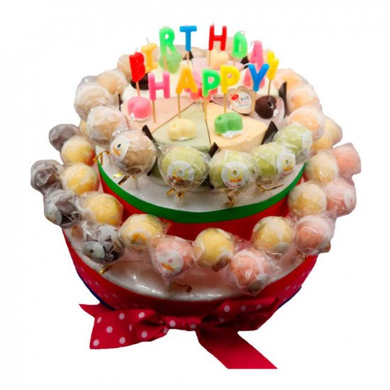 "7""Round Ice Cream Cake + 50 sticks 2 layer Ice Cream Lollipop Combo"