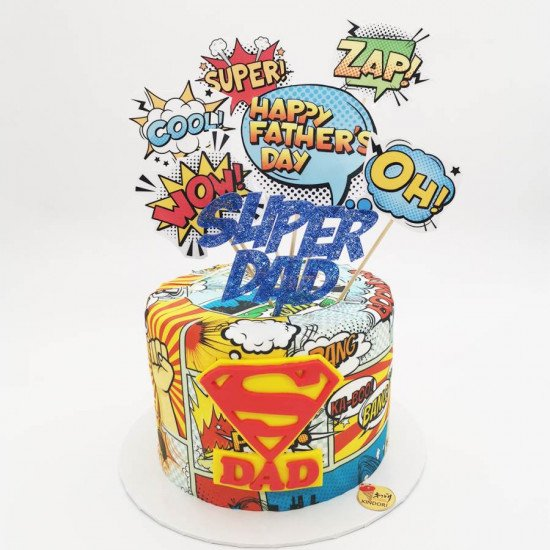 fathers day cake super dad cake father's day gift ideas