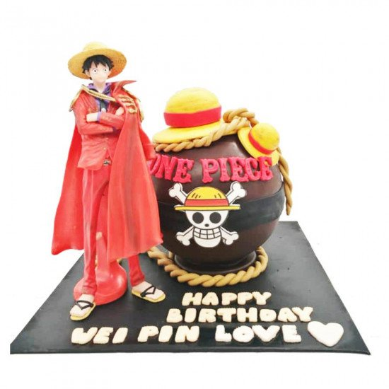 one piece anime bombshell pinata cake