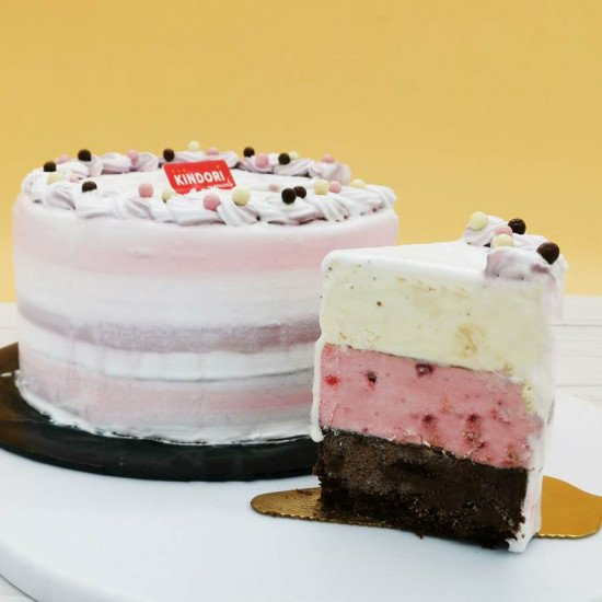 neopolitan ice cream cake