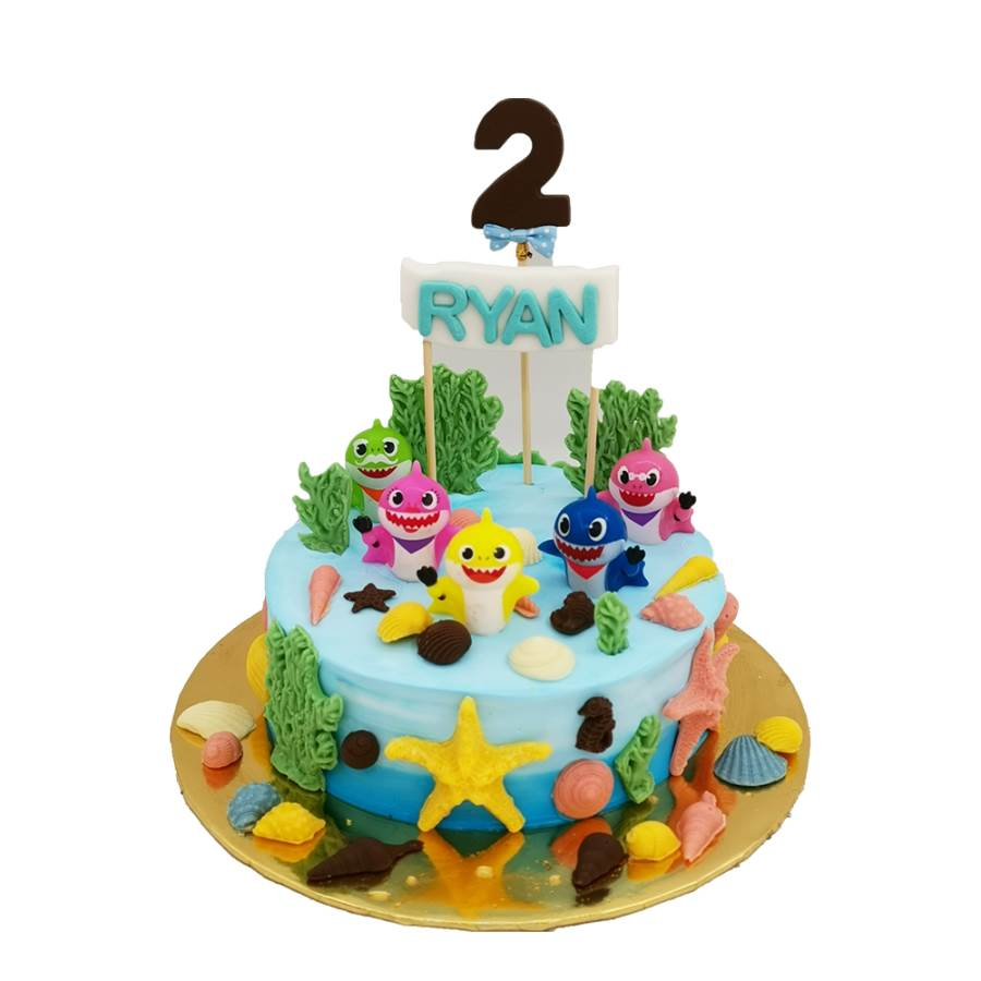 Remarkable Cute Baby Shark Cake For Kids Free Delivery To Kl Funny Birthday Cards Online Inifodamsfinfo