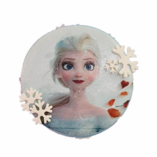 Elsa frozen photo cake