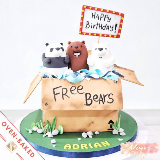 we bare bears birthday cake
